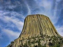 башня Вайоминг дьявола s Стоковое Изображение RF