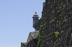 Башня вахты городища Пуэрто-Рико исторического Стоковое Изображение