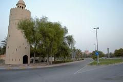 Башня вахты, соединение, Al Maqta, Абу-Даби Стоковые Изображения RF