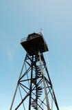Башня вахты тюрьмы Alcatraz старая стоковое изображение