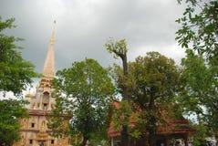 Башня виска Wat Chalong стоковые фотографии rf