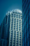 Башня высоких зданий над charlotte Северной Каролиной Стоковое Изображение
