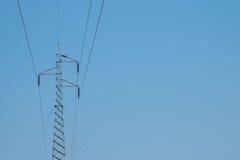 Башня высоковольтного кабеля Стоковое Изображение RF