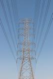 Башня высоковольтного кабеля Стоковые Изображения RF