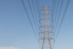 Башня высоковольтного кабеля Стоковое Изображение