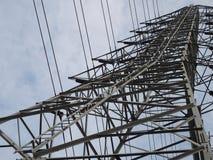 Башня высокого напряжения акцента стоковое фото