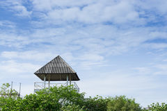 Башня в лесе стоковое изображение
