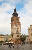 Башня в Краков, Польша ратуши Стоковая Фотография