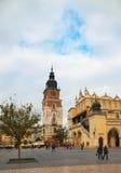 Башня в Краков, Польша ратуши Стоковые Изображения RF