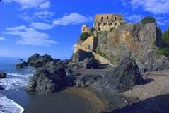 Башня в середине моря стоковое изображение