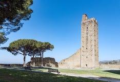 Башня в Castiglione Fiorentino, Тоскане - Италии стоковое изображение rf