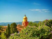 Башня в St Tropez в Франции стоковое фото rf
