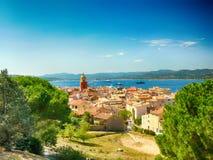 Башня в St Tropez в Франции стоковые фотографии rf