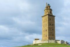 Башня Геркулеса в Coruna, Галиции, Испании Стоковые Фотографии RF