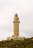 Башня Геркулеса (маяк), Ла Coruna, Галисия, Испания, UNESCO Стоковые Фотографии RF