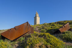 Башня Геркулеса Стоковое Изображение