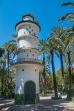 Башня голубя в муниципальном парке в Elx Стоковые Изображения