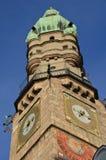 Башня города Инсбрука, Тироль, Австрия Стоковое Изображение