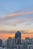 Башня городского пейзажа в Бангкоке Стоковые Изображения RF