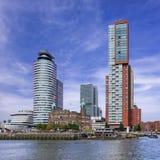 Башня гостиницы Нью-Йорка, Монтевидео и мир переносят на Kop фургон Zuid, Роттердам, Нидерланды стоковое фото