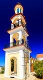 башня грека церков колокола остров rhodes Греция Стоковое Изображение RF