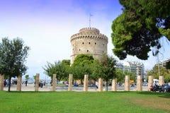 Башня Греция Thessaloniki белая Стоковая Фотография RF