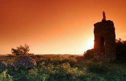 Башня девственницы в лесе Фонтенбло стоковые фото