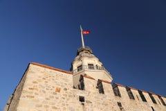 Башня девушек в проливе Bosphorus, Стамбуле Стоковое Фото