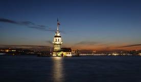 Башня девушек в Стамбуле, Турции Стоковое Изображение RF