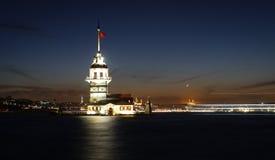 Башня девушек в Стамбуле, Турции Стоковое Фото