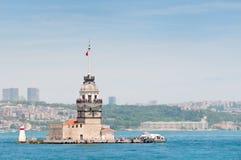 башня девушек istanbul Стоковое Изображение