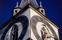 башня детали часов Стоковая Фотография RF