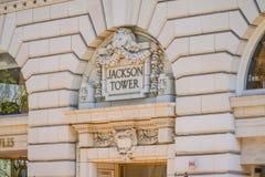 Башня Джексона строя Портленд - ПОРТЛЕНД - ОРЕГОН - 16-ое апреля 2017 Стоковая Фотография RF