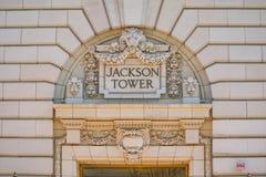 Башня Джексона строя Портленд - ПОРТЛЕНД - ОРЕГОН - 16-ое апреля 2017 Стоковое Изображение