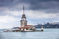 башня девушек istanbul Стоковые Изображения