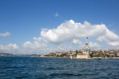 Башня девушки, Стамбул, Турция Стоковые Фотографии RF