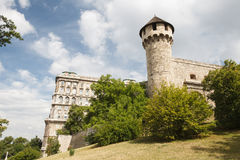 Башня жезла и средневековая крепость в Buda рокируют в Budapes Стоковые Изображения RF