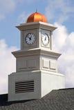 башня залы города приданная куполообразную форму часами Стоковые Изображения RF