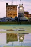 башня залы часов города стоковое изображение rf