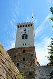 Башня замка Любляны - выпускник Ljubljanski, Словения, Европа Стоковые Изображения