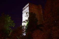 Башня замка Оксфорда на ноче Стоковая Фотография