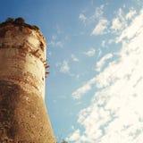Башня замка Aragonese в Gaeta - винтажном влиянии Стоковые Изображения