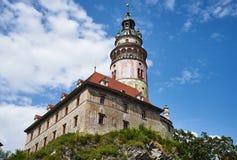 Башня замка Cesky Krumlov Стоковое Изображение RF