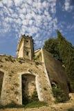 башня замка d ansouis стоковое изображение