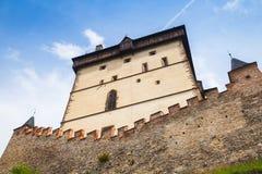 Башня замка Karlstejn взгляд городка республики cesky чехословакского krumlov средневековый старый Стоковые Изображения