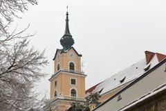 Башня замка Lubomirski в Rzeszow, Польше Стоковая Фотография RF
