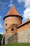 Башня замка Trakai около Вильнюса Стоковое Изображение