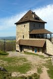 башня замока средневековая стоковая фотография
