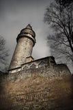 башня замока страшная Стоковые Изображения
