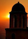 башня захода солнца колокола стоковая фотография rf